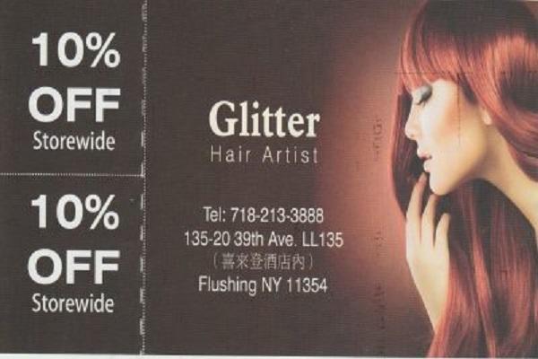 glitter hair artist 美发店 电话:7182133888