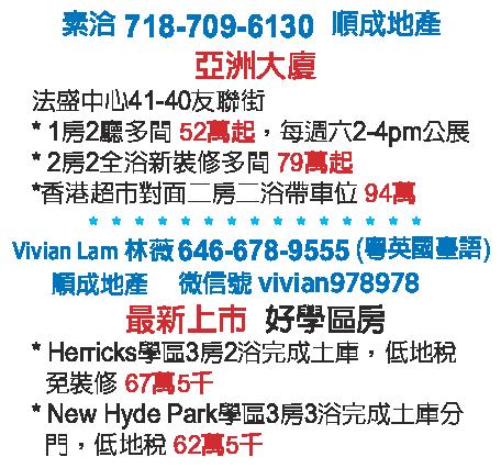 亚洲大厦 法拉盛好学区房出售 718-709-6130