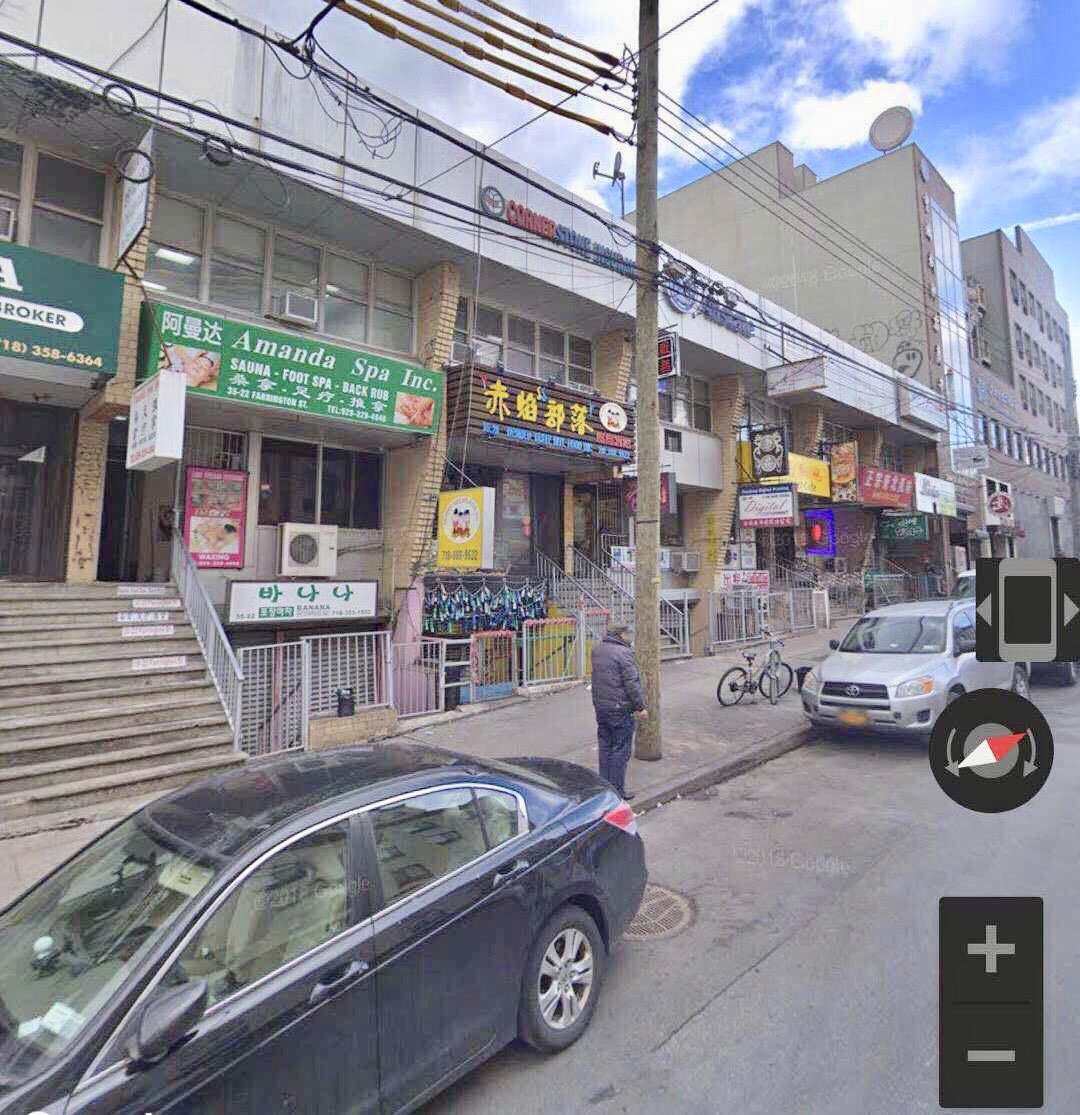 商業樓宇出售*法拉盛市中心*繁华商业街, 三層100%商业樓共3244平方英尺