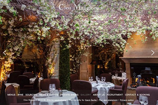 Clos Maggiore浪漫餐厅  +44 (0)20 7379 9696