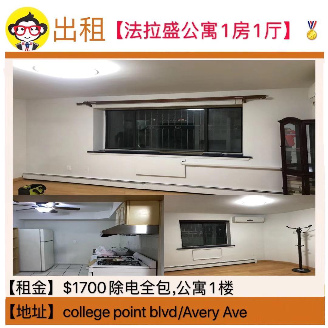【法拉盛公寓1房1厅】